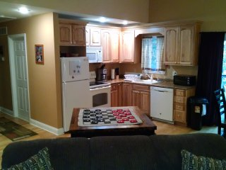 Kitchen. Pic taken from living room area. Hallway to bedrooms is to your right.