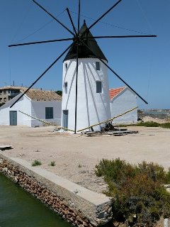 Windmill at the mud baths Mar Menor
