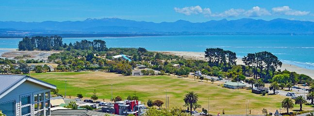 Tahunanui Sports Grounds, Playgrounds & Beach Area as viewed from the Property