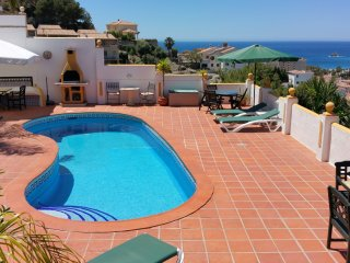 Lux. App El Olivo, fantastic seaview, priv. Pool, WiFi, A/C, Parking, Almunecar