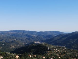 A 2 Bedroom Hideaway 680m high in the hills 24km from Nice with amazing views.