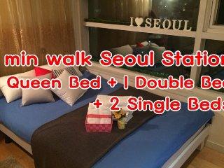 ★Seoul Station ★Duplex APT ★Free WiFi★, Seúl