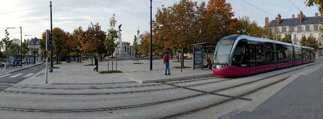 Coloque la estación de tranvía cerca de la república Dijon