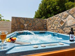 Fiorentinos Villa mit eigenem Pool und Gästehaus, Tragaki
