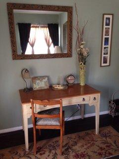 Desk or vanity area in 'Star Bright' master bedroom.