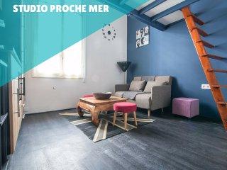 Proche mer petit studio avec mezzanine, Roquebrune-Cap-Martin