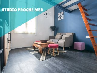 Studio mezzanine proche mer et Monaco