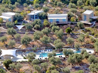 Villa Adelphia, luxury eco-design ensemble with pool for 12-20 people