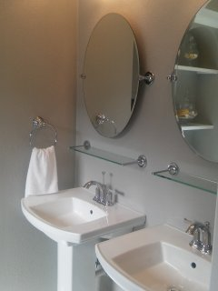 double pedestal sinks in master BR