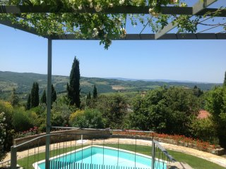 apartment luxuriously renovated in farmhouse La Te, Panzano in Chianti