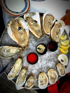 Glidden point oysters from the Damariscotta