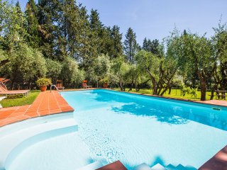 Characterful 14th century Tuscan villa in the beautiful countryside with private pool amidst the olive trees