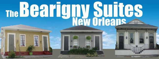 We offer 4 different Suites. 3 properties. Rampart House, Elysian Fields, Marigny & Courtyard Suite