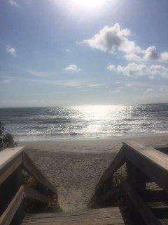 A 5 minute walk to the beach.