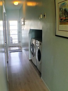 Washer Dryer in unit.
