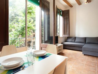 Sunny New Studio Near Ramblas, Wifi Incl., Barcelona