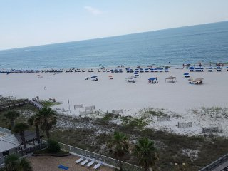 the beach from our private balcony