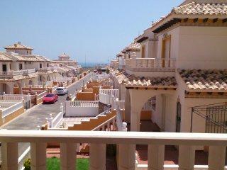Aparte. para 6 personas, vista al mar, piscina, aire acondicionado, Wifi, Playa Flamenca