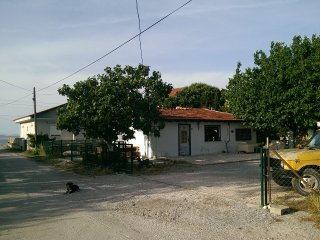 Stone fisherman house In 2500 m2 garden beside sea