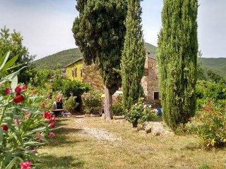 App.ACETOSELLA in casale toscano con piscina, Castellina Marittima