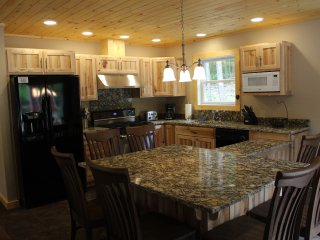 6 burner gas stove, marble counter tops and much more