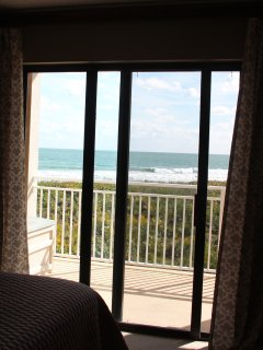 Actual view from master bedroom with oceanfront terrace
