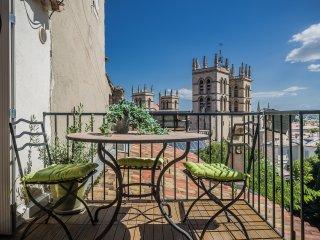 Duplex terrasse vue sur cathedrale, Montpellier