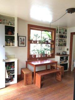 Sunny kitchen.