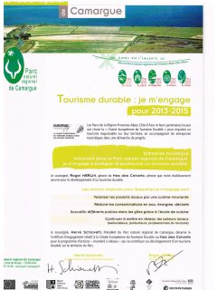 label du parc de Camargue tourisme durable