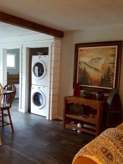 Washer and Dryer (door is open for photos)