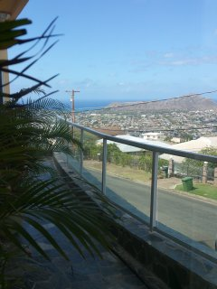 Lanai with view of Diamond Head