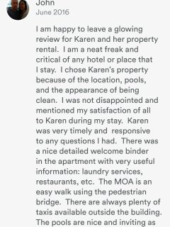 Review from one of our many satisfied guests