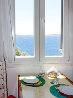 When you have breakfast in the kitchen you also can have a great view of the sea around you.