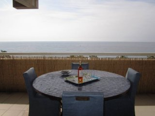Le Sea view: 4 beds flat terrace ac, parking sea, Nice