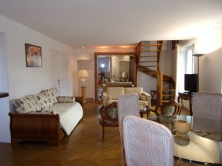 Apartment Duplex panoramic 2 chambres, living room, Pont-Sainte-Maxence