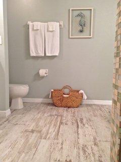 Spacious updated Master Bathroom
