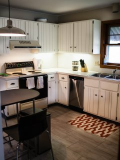 Updated kitchen with everything you need to prepare meals (or just coffee) :)
