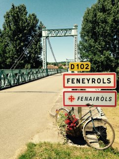 The iron bridge in Féneyrols