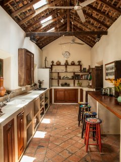 Our long well equipped Kitchen
