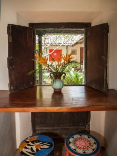 View from the Kitchen to the courtyard