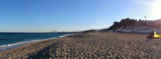 long sand beach of Montat