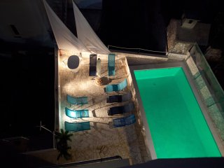 Apartment with terrace and pool access, Razanj