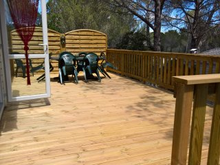 Large decking area for outside dining