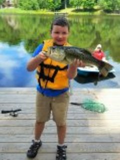 Caught right off our dock!! June of 2016..bring your license!!