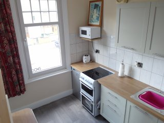 NEW Kitchen Dining Room. Cups, Dishes, plates etc. Plus Coffee and Tea awaits you on arrival.