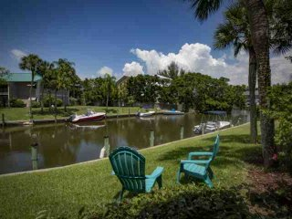 White Sands Walk to Siesta Beach inlet water view and heated community pool