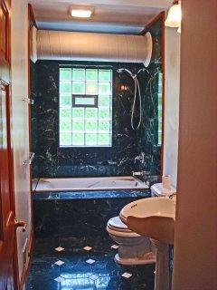 Marble bathroom with Jacuzzi Tub
