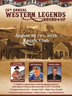 Local, annual festival where old western movie stars return to sign autographs