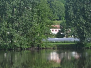 Nice view on the river in classified village, Aubeterre-sur-Dronne