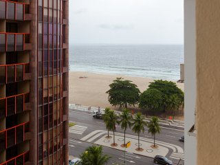 triple ocean view bedroom in copacabana